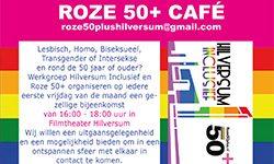 Roze50+ Café op 6 septem in Filmhuis Hilversum