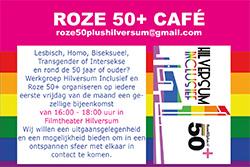 Aankondiging 6 sept opening Roze 50+ Café Hilversum
